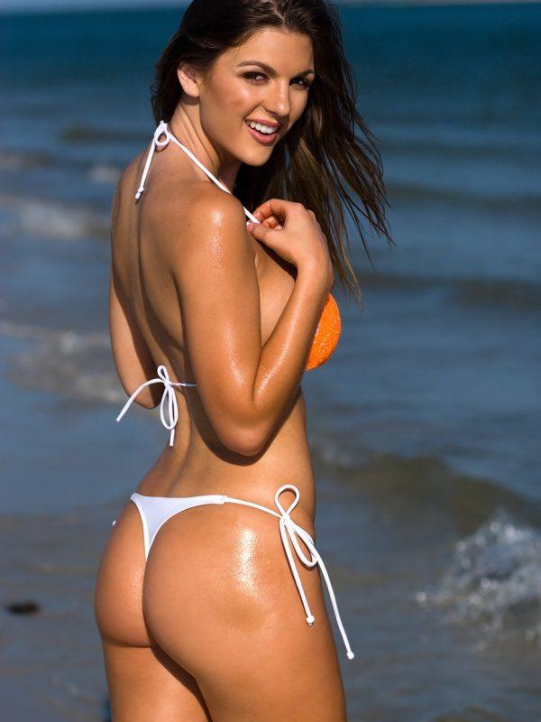Jillian Beyor   Orange Mini Thong Bikini