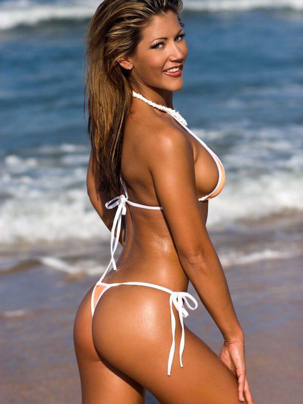 Randi Jackson | Orange Thong Bikini