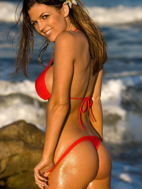 Jillian Beyor | Red Brazilian Thong Bikini