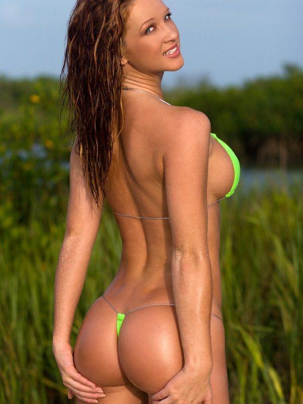 Samantha Harris | Extreme Neon Thong Bikini