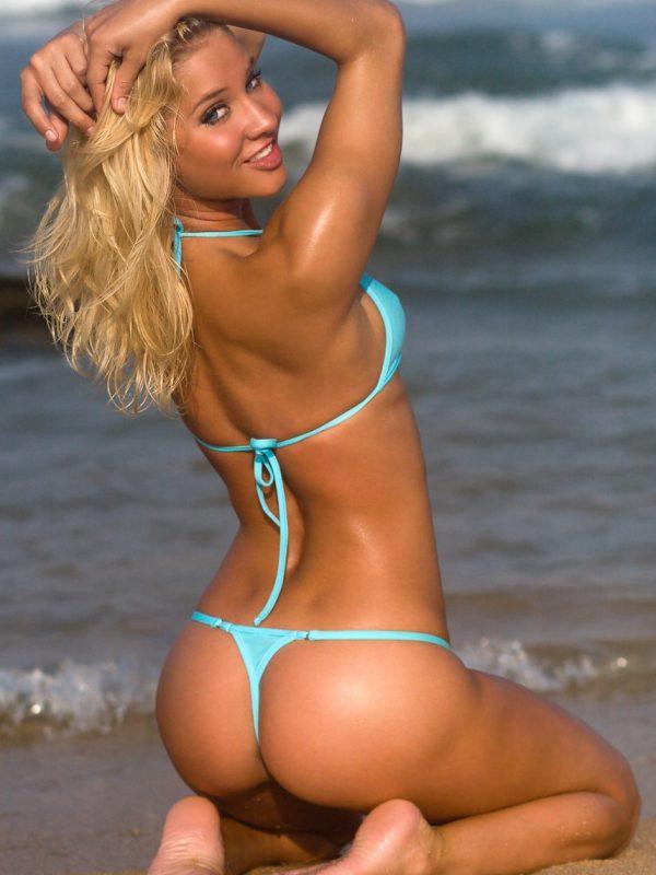 Amy Zidian | Aqua G String Bikini