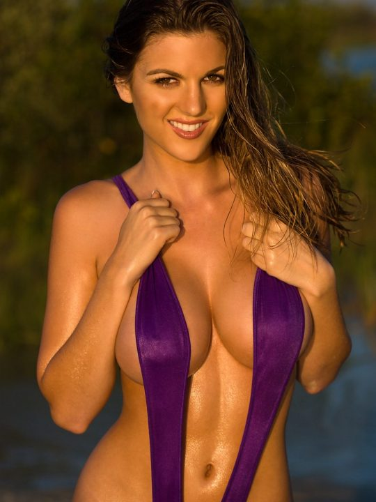 Jillian Beyor   Purple Slingshot Thong